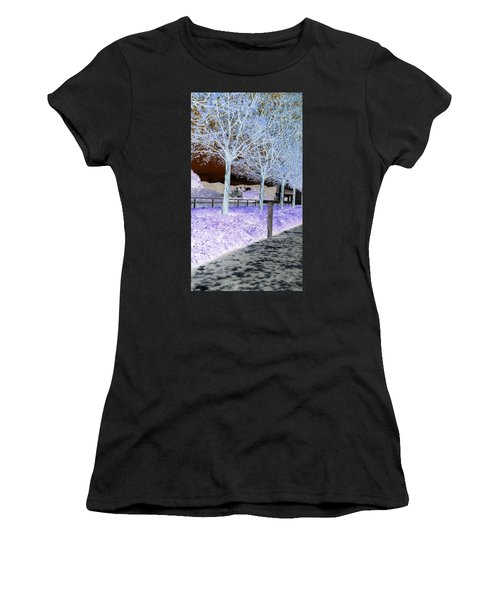 Frosty Trees At The Getty Women's T-Shirt