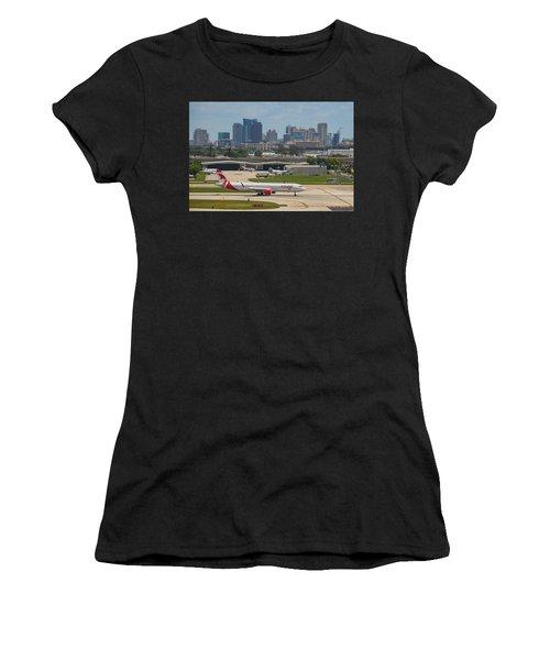 Frt Lauderdale Airport/city Women's T-Shirt (Athletic Fit)