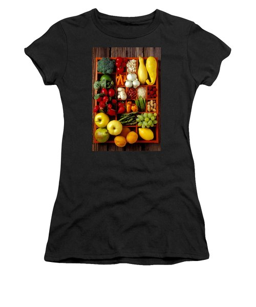 Fruits And Vegetables In Compartments Women's T-Shirt