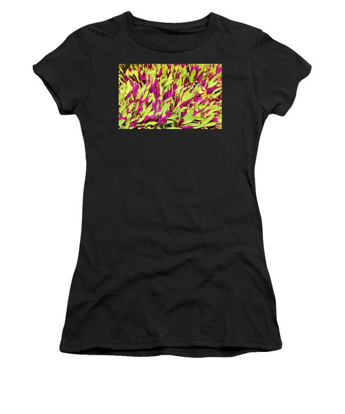 Fuchsia And Green -- Aloha Ground Cover Women's T-Shirt