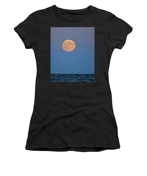 Full Blood Moon Women's T-Shirt (Athletic Fit)
