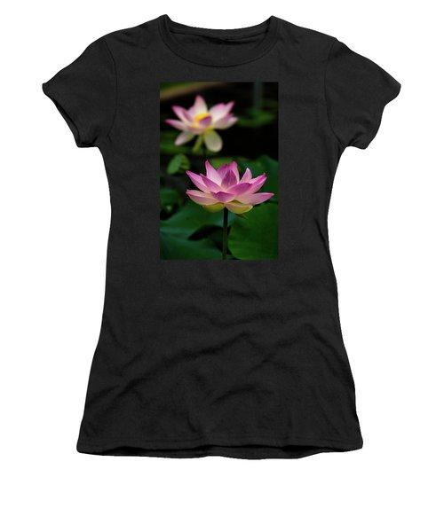 Full Blooming Dual Lotus Lilies Women's T-Shirt