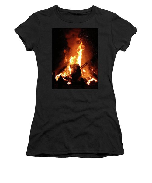 Full Bonfire Women's T-Shirt (Athletic Fit)