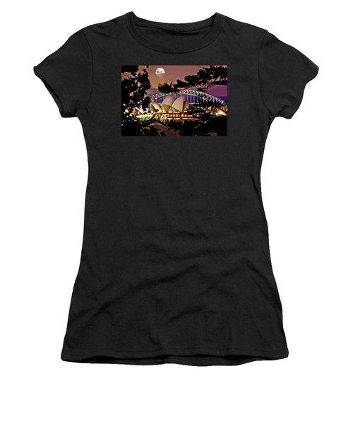 Full Moon Above Women's T-Shirt