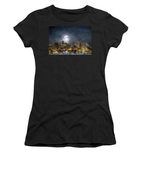 Full Moon Over Denver Women's T-Shirt
