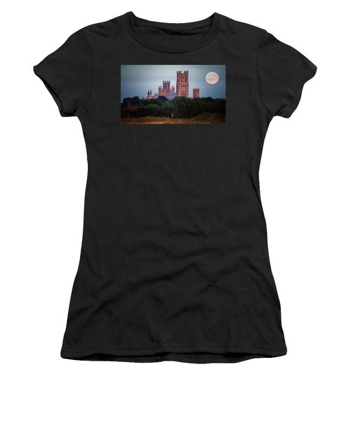 Full Moon Over Ely Cathedral Women's T-Shirt