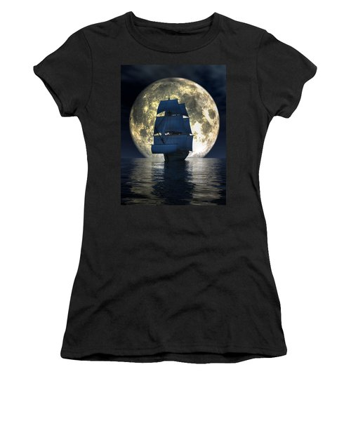 Full Moon Pirates Women's T-Shirt (Athletic Fit)