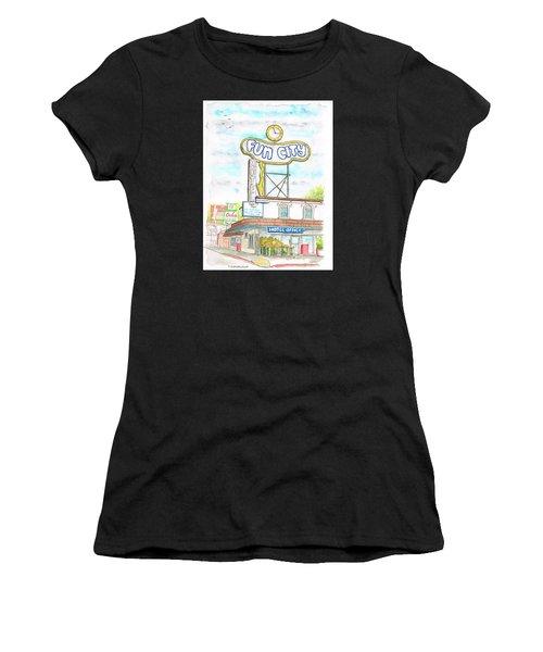 Fun City Motel, Las Vegas, Nevada Women's T-Shirt (Athletic Fit)