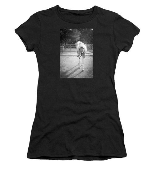 Funny Horse In Black And White Women's T-Shirt
