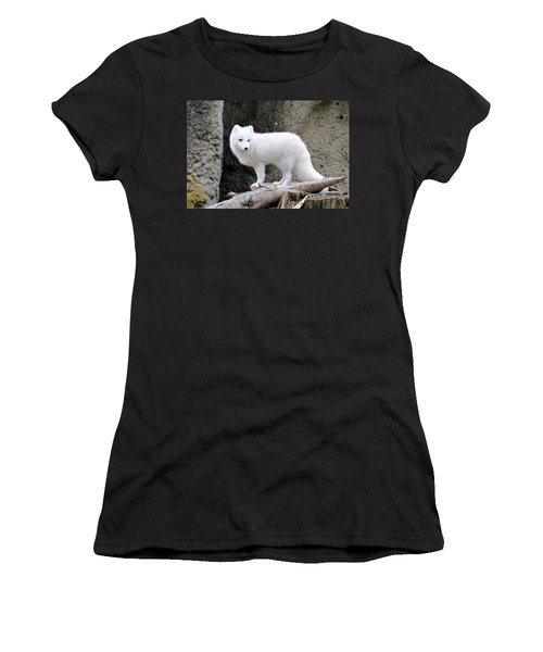 Furry Arctic Fox  Women's T-Shirt (Athletic Fit)