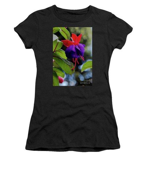 Fuschia Women's T-Shirt (Athletic Fit)