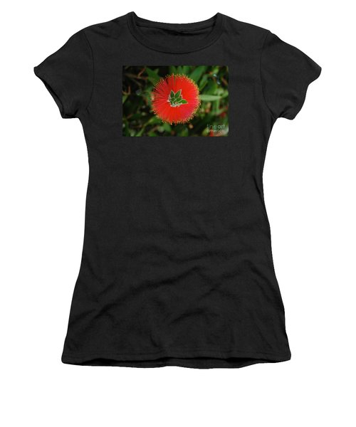 Fuzzy Flower Women's T-Shirt (Athletic Fit)