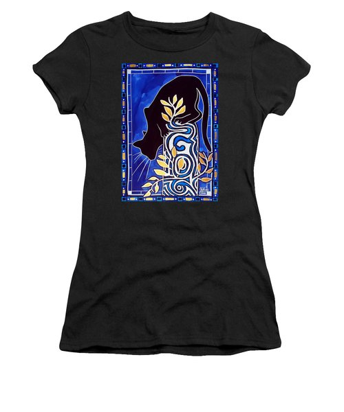 G Is For Gato - Cat Art With Letter G By Dora Hathazi Mendes Women's T-Shirt (Athletic Fit)