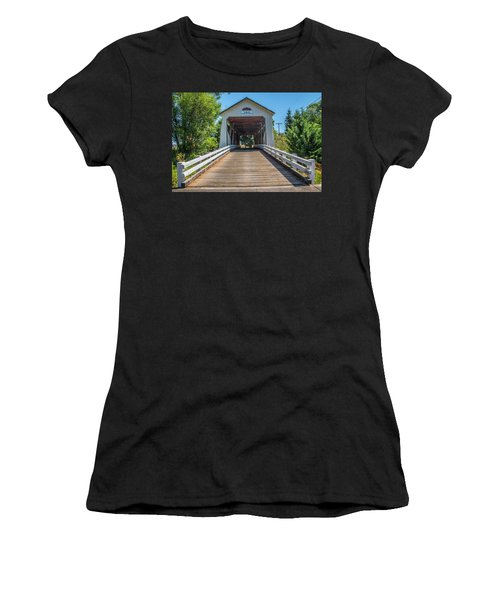 Gallon House Covered Bridge Women's T-Shirt