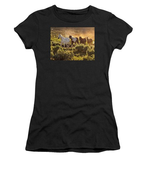 Galloping Down The Mountain Women's T-Shirt (Athletic Fit)