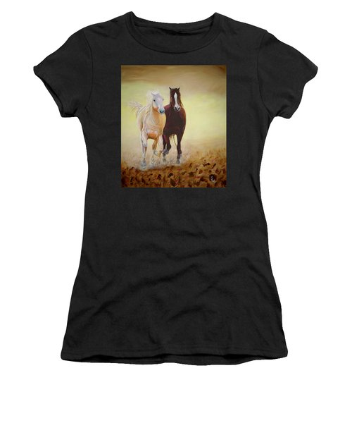 Galloping Horses Women's T-Shirt