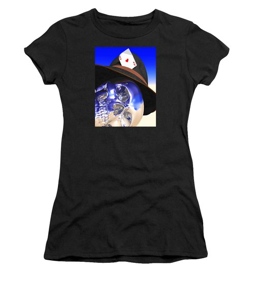 Women's T-Shirt (Junior Cut) featuring the digital art Game Over by Andreas Thust