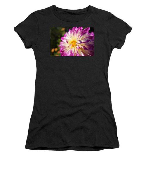 Garden Dahlia Flower Fine Art Prints Women's T-Shirt