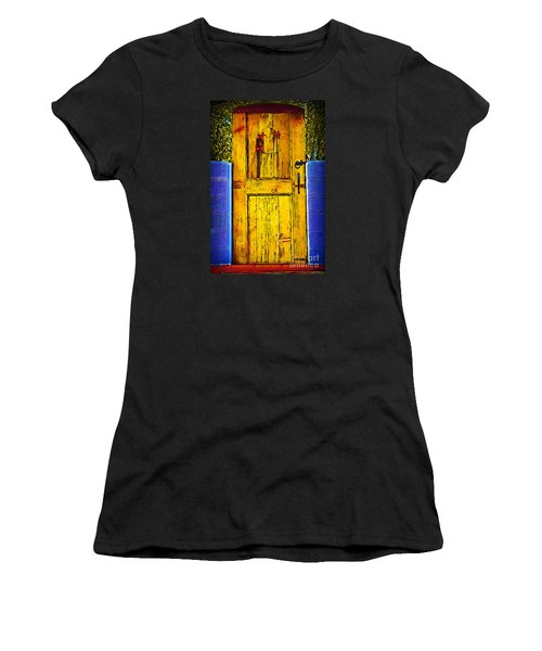 Garden Door Women's T-Shirt (Junior Cut) by Kirt Tisdale