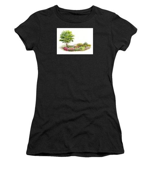 Garden Fresh Watercolor Painting Women's T-Shirt