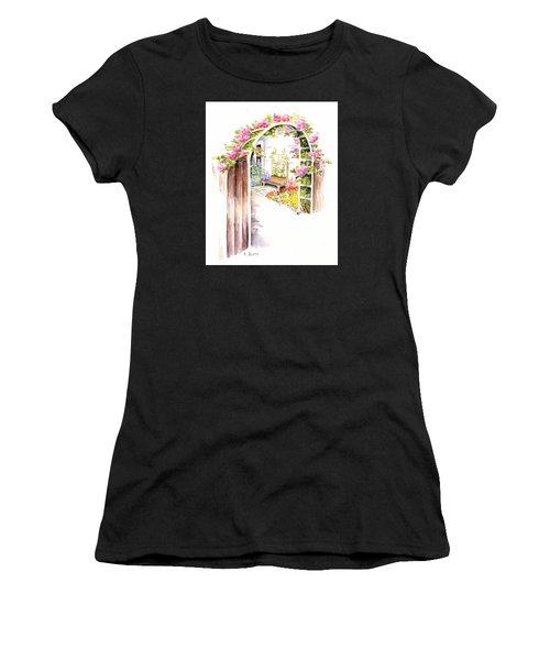 Garden Gate Botanical Landscape Women's T-Shirt