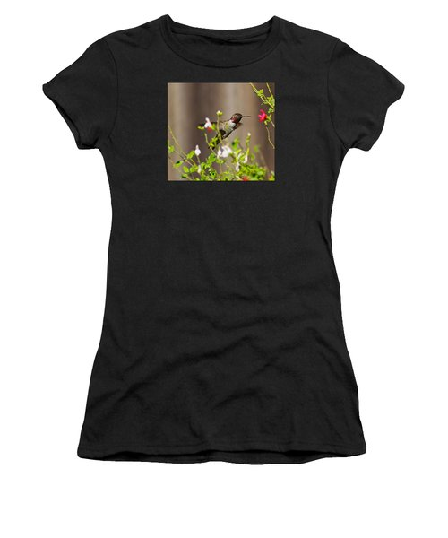 Garden Hummingbird Women's T-Shirt (Athletic Fit)