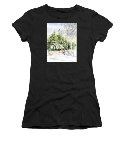Garden Landscape Winter Women's T-Shirt