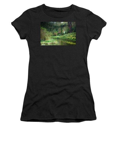 Garden Pond Women's T-Shirt (Athletic Fit)