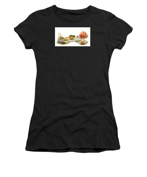 Garden Wild Flowers Watercolor Women's T-Shirt