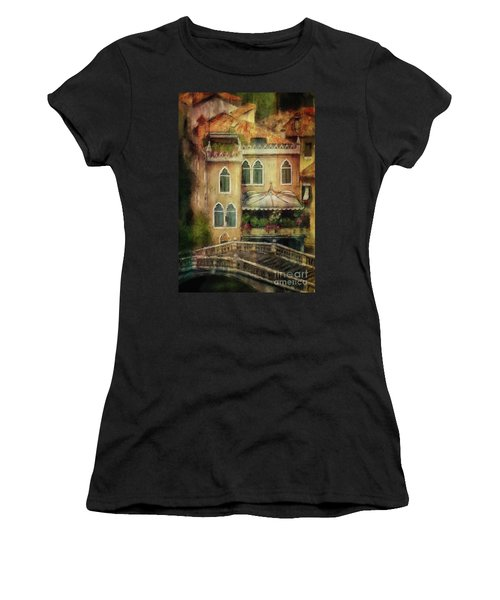 Women's T-Shirt (Athletic Fit) featuring the digital art Gardening Venice Style by Lois Bryan