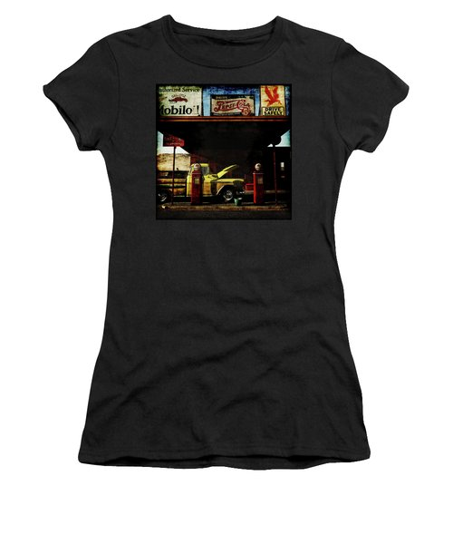 Gas Station No3 Women's T-Shirt (Athletic Fit)