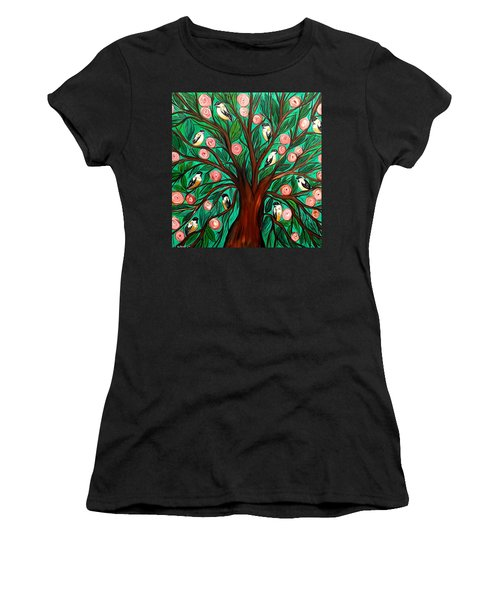 Gathering The Family Women's T-Shirt (Junior Cut) by Lisa Aerts