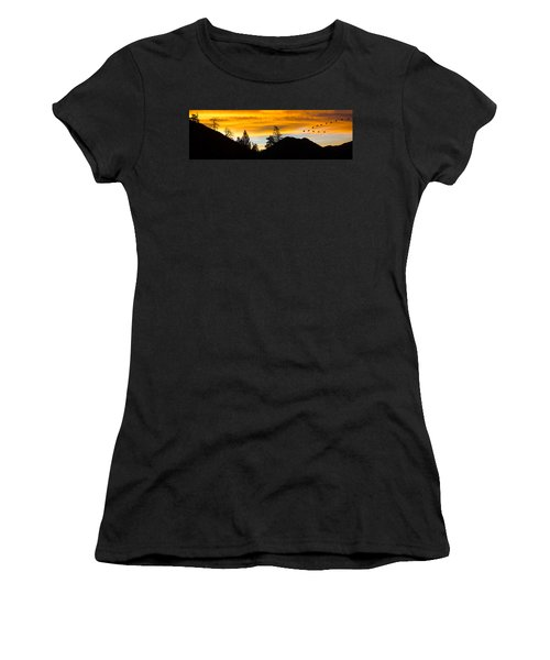 Geese At Sunrise Women's T-Shirt (Athletic Fit)