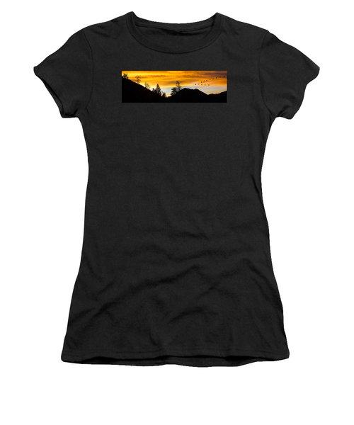Geese At Sunrise Women's T-Shirt