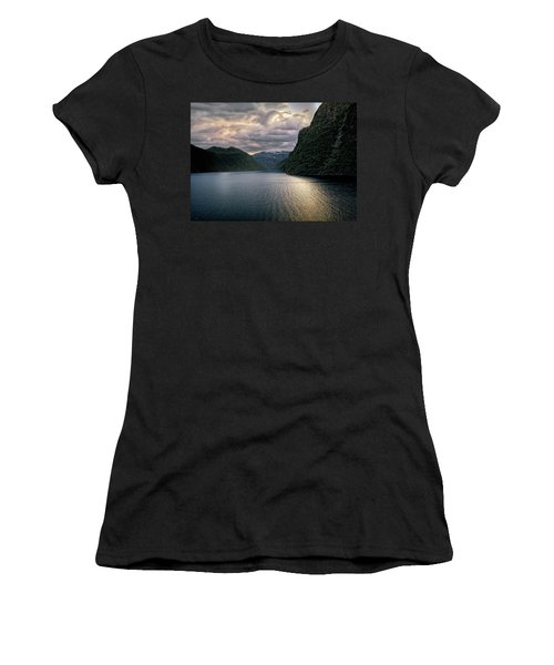 Women's T-Shirt (Junior Cut) featuring the photograph Geiranger Fjord by Jim Hill