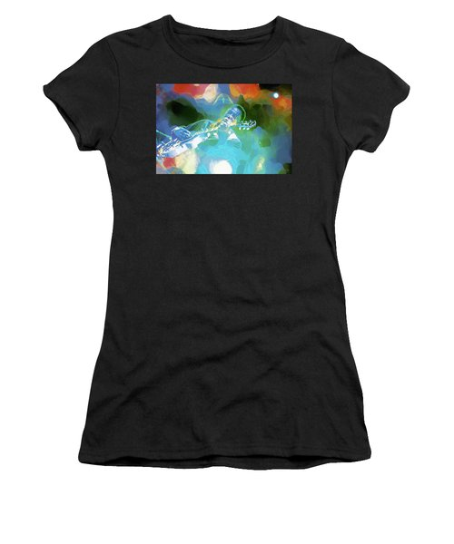 George Benson, Watercolor Women's T-Shirt (Athletic Fit)
