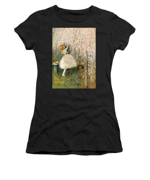 Georges Picard French 1857 1946 Romance Under The Blossom Tree Women's T-Shirt
