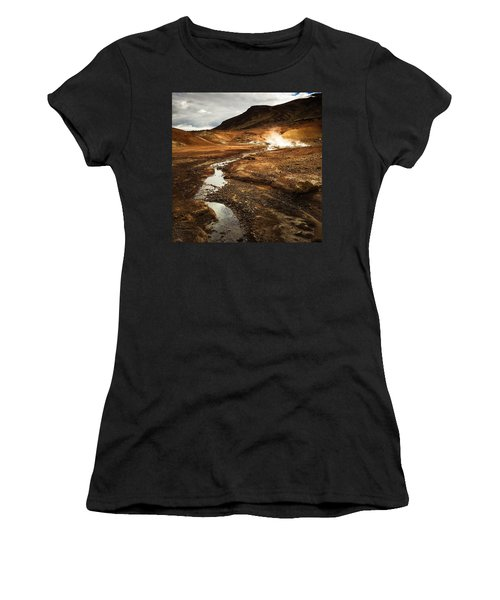 Geothermal Area Krysuvik In Iceland Women's T-Shirt