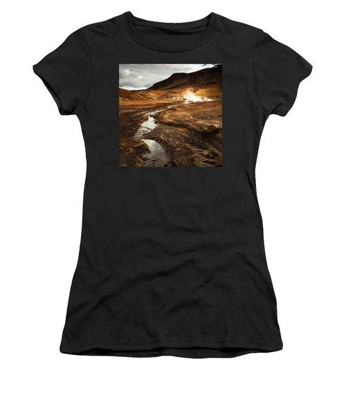 Geothermal Area Krysuvik In Iceland Women's T-Shirt (Athletic Fit)