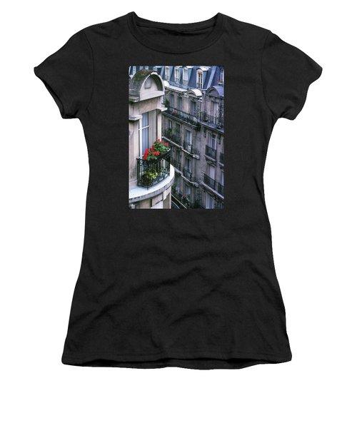 Geraniums - Paris Women's T-Shirt (Athletic Fit)