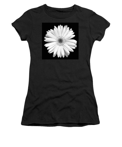 Single Gerbera Daisy Women's T-Shirt (Junior Cut) by Marilyn Hunt