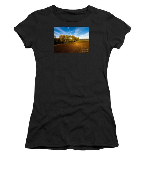 Fields From Above Women's T-Shirt (Athletic Fit)