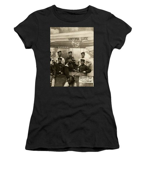 German Military Officers Zeppelin Crew 1913 Women's T-Shirt (Athletic Fit)
