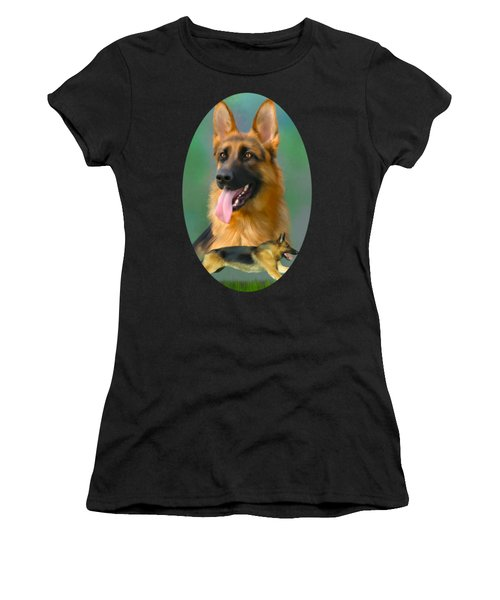 German Shepherd Breed Art Women's T-Shirt