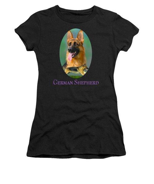 German Shepherd With Name Logo Women's T-Shirt