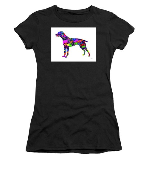 German Shorthaired Pointer Paint Splatter Women's T-Shirt (Athletic Fit)