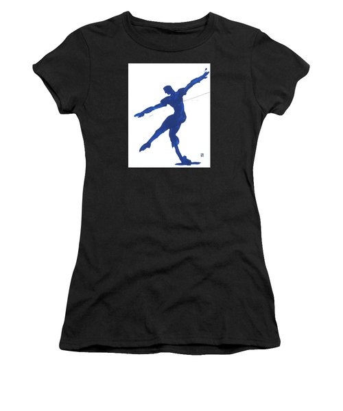 Gesture Brush Blue 2 Women's T-Shirt (Athletic Fit)