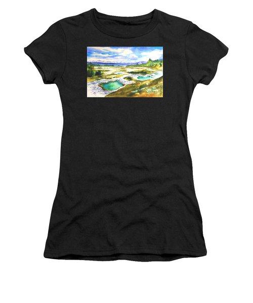 Geyser Basin, Yellowstone Women's T-Shirt