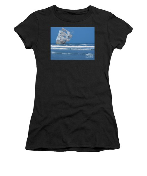 Ghost Ship On The Treasure Coast Women's T-Shirt (Athletic Fit)