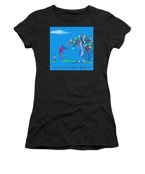 Giant, Boy, And Doorway Women's T-Shirt